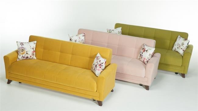 ספות תלת מושביות צבעוניות - אלבור רהיטים