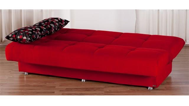 ספה אדומה נפתחת - אלבור רהיטים