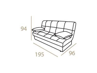 ספה נפתחת סגולה - אלבור רהיטים