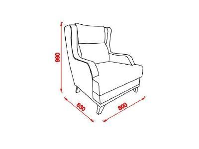 כורסה פרחונית מעוצבת - אלבור רהיטים