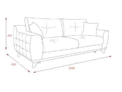 ספה פרחונית וחומה - אלבור רהיטים
