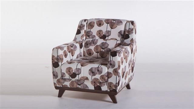 כורסא פרחונית חומה - אלבור רהיטים
