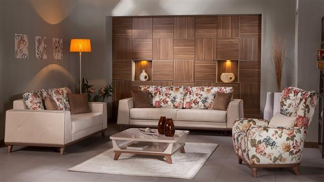 סלון משולב פרחים - אלבור רהיטים