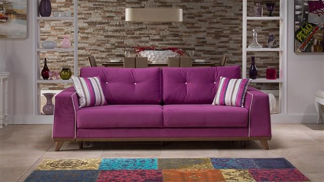 ספת תלת מעוצבת סגולה - אלבור רהיטים