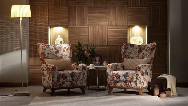 כורסאות פרחוניות מעוצבות - אלבור רהיטים