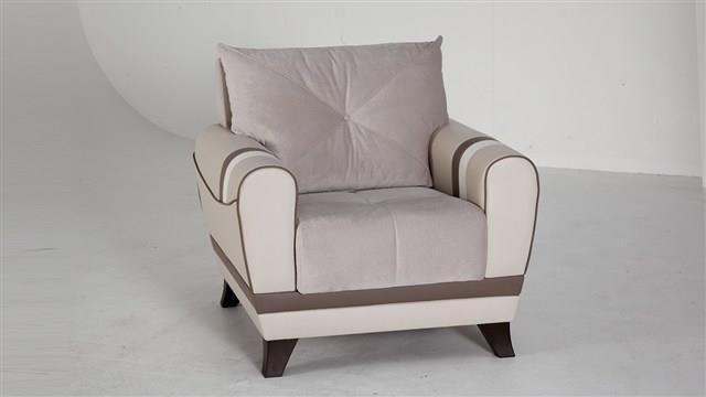 כורסא בהירה מעוצבת - אלבור רהיטים