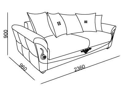 ספה אפורה מעוצבת - אלבור רהיטים