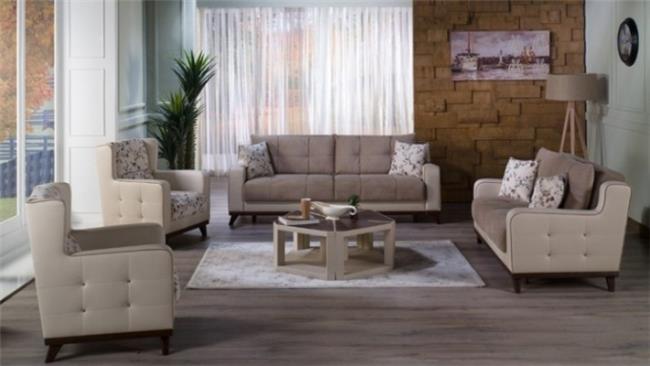 סלון יוקרתי בהיר - אלבור רהיטים