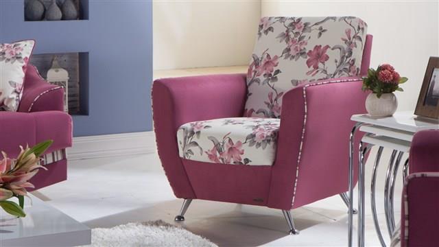 כורסא ורודה לסלון - אלבור רהיטים