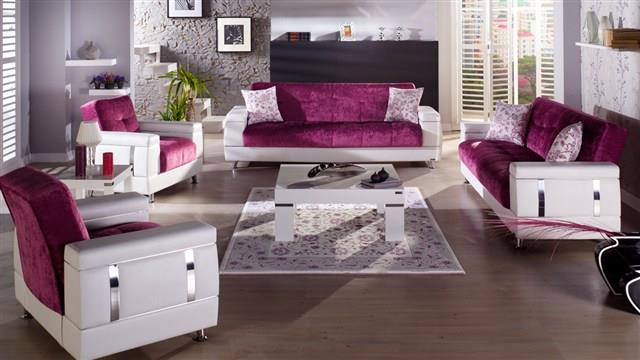 סלון בורוד ולבן - אלבור רהיטים