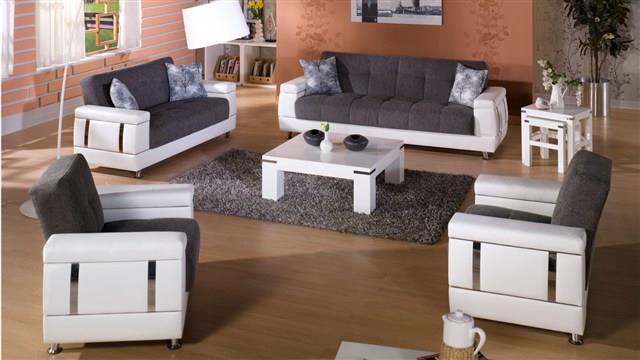 סלון אפור ולבן - אלבור רהיטים