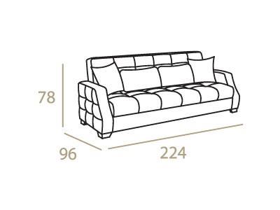 ספה באפור ולבן - אלבור רהיטים