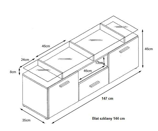 מזנון שחור לבן - אלבור רהיטים
