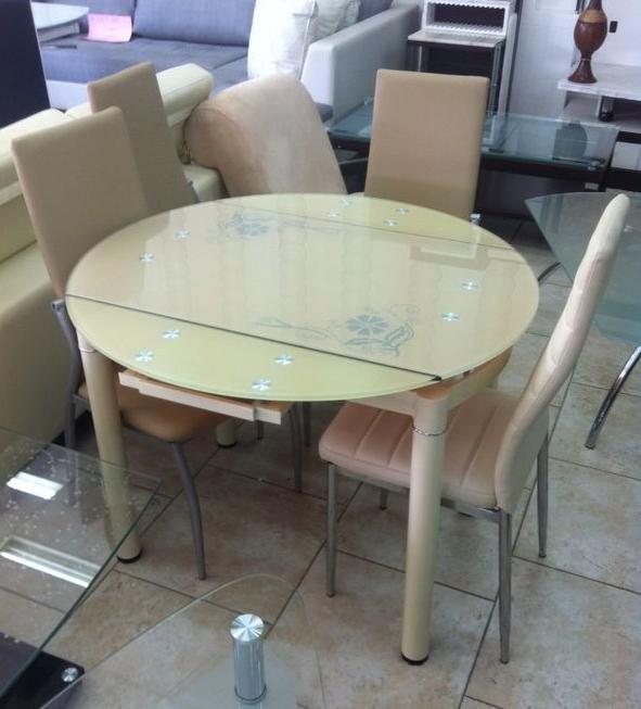 שולחן עגול נפתח - אלבור רהיטים