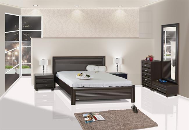 חדר שינה שחור - אלבור רהיטים