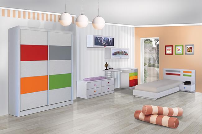 חדר ילדים צבעוני - אלבור רהיטים