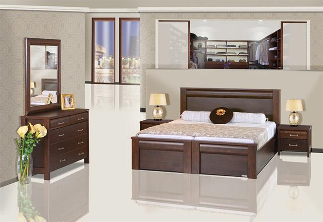 חדר שינה מפואר חום - אלבור רהיטים