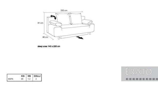 ספה נפתחת Erato - אלבור רהיטים