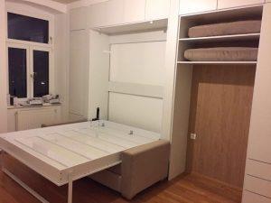 מיטה נפתחת מארון קיר וספה - אלבור רהיטים