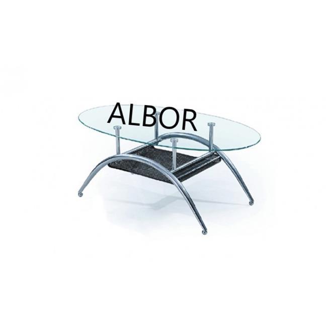 שולחן סלון אליפסה KUR - אלבור רהיטים