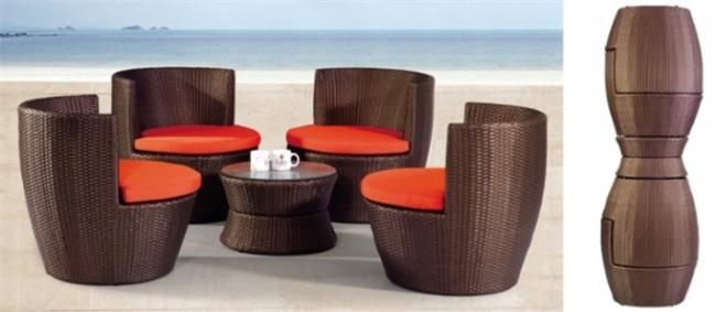 שולחן קפה וכורסאות - כסא נדנדה