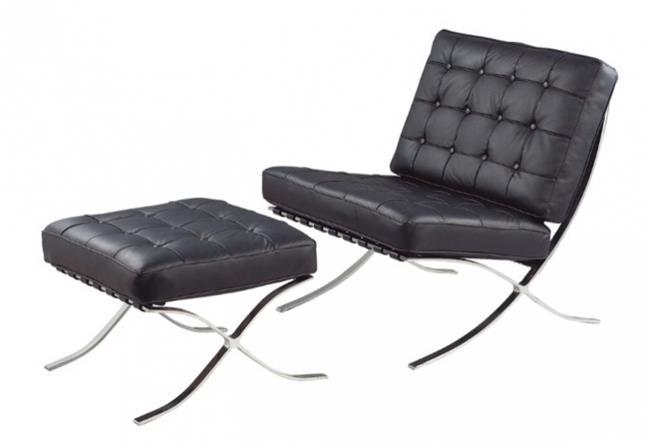 כורסת עור ברצלונה - כסא נדנדה