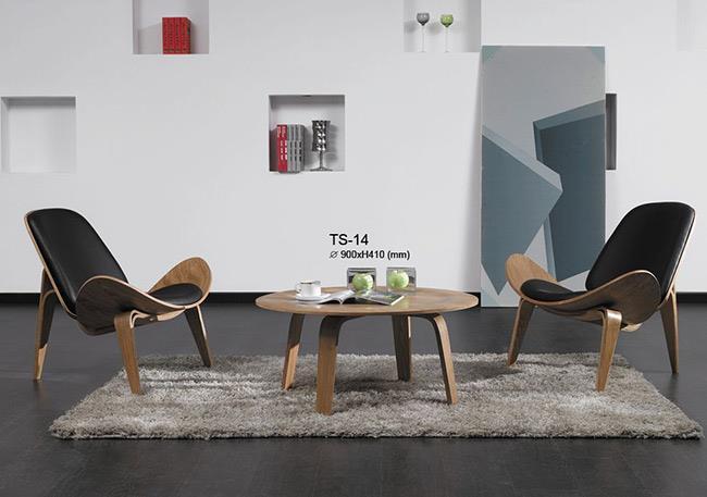 כסא מרופד מעץ מלא - כסא נדנדה