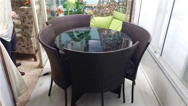 פינת ישיבה לגן דגם מלבק - כסא נדנדה