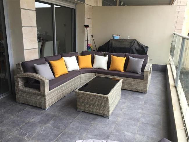 מערכת ישיבה ריבר פינתית - כסא נדנדה