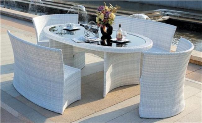 שולחן אוכל לחצר - יבוא 4 יו
