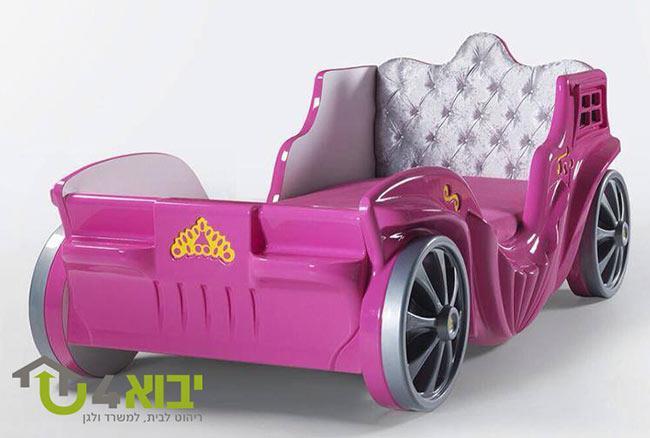 מיטת כרכרה ורודה - יבוא 4 יו