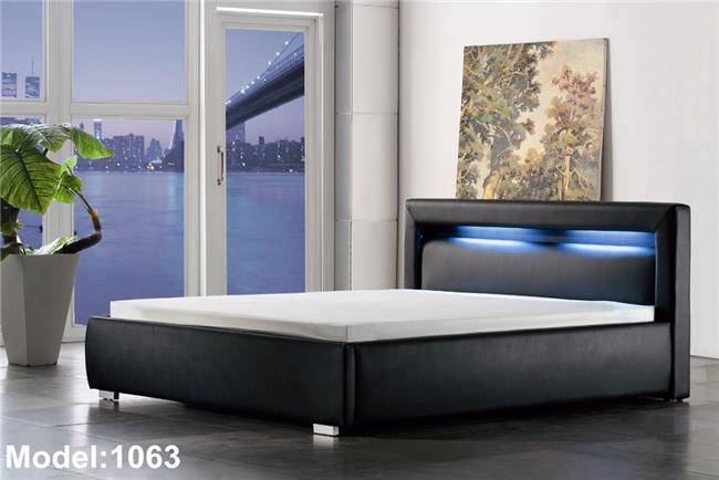מיטה מעוצבת עם לד - יבוא 4 יו