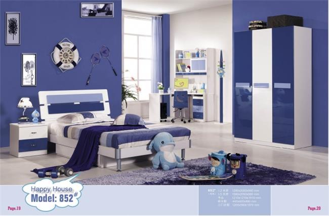 חדר שינה קומפלט בגוונים כחולים - יבוא 4 יו