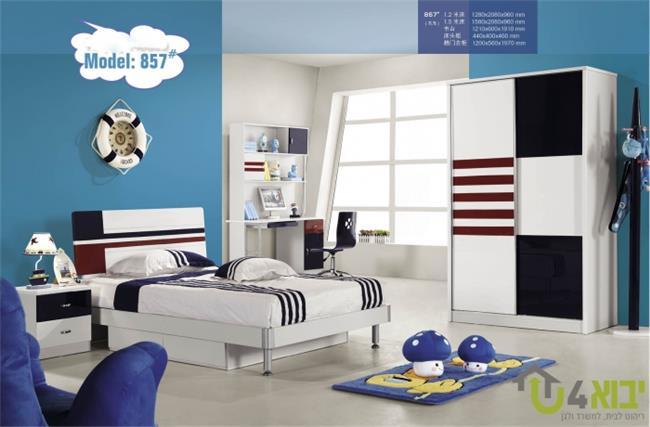 חדר שינה קומפלט אדום כחול - יבוא 4 יו