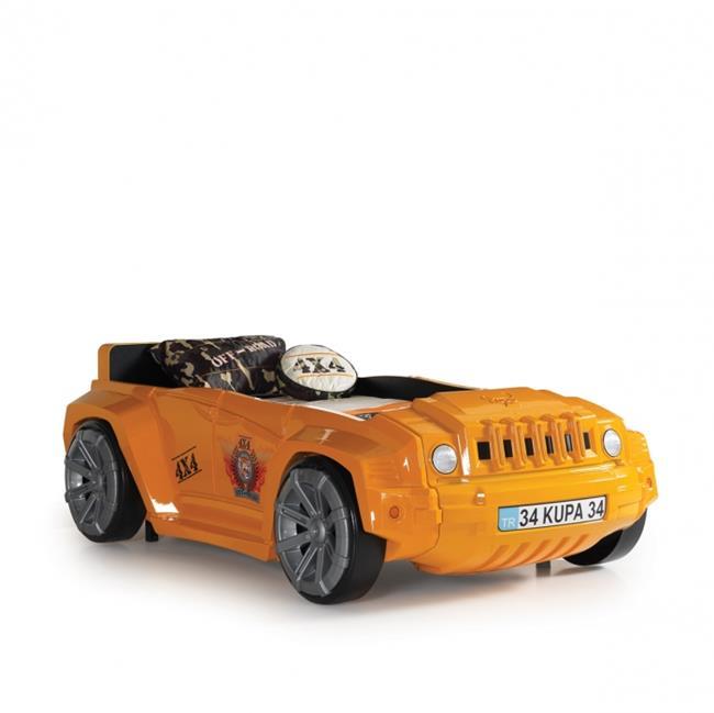 מיטת מכונית ג'יפ כתום לילדים - יבוא 4 יו