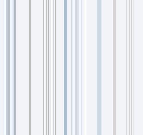 טפט פסים כחול אפור לבן - Blinds-US