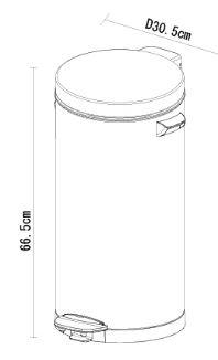 פח אשפה עגול למטבח אקו 30 ליטר - א.ישראלי