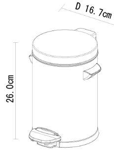 פח אשפה עגול לבן לשירותים אקו 3 ליטר - א.ישראלי