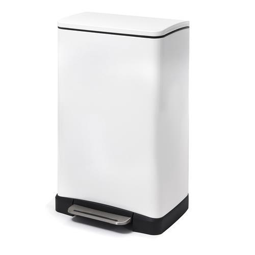 פח אשפה מרובע לבן מט למטבח אקו 30 ליטר - א.ישראלי