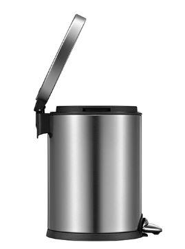 פח אשפה עגול מבריק לשירותים אקו 3 ליטר - א.ישראלי