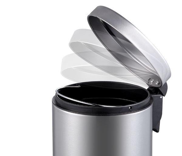 פח אשפה עגול קלאסי לבן לשירותים אקו 5 ליטר - א.ישראלי