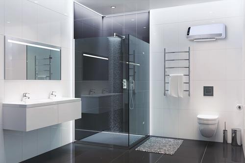 מפזר חום דיגיטלי לאמבט בצבע שחור מט - א.ישראלי