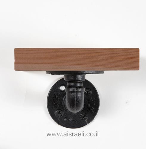 מדף בודד קטן - גוון עץ אדמדם  - א.ישראלי