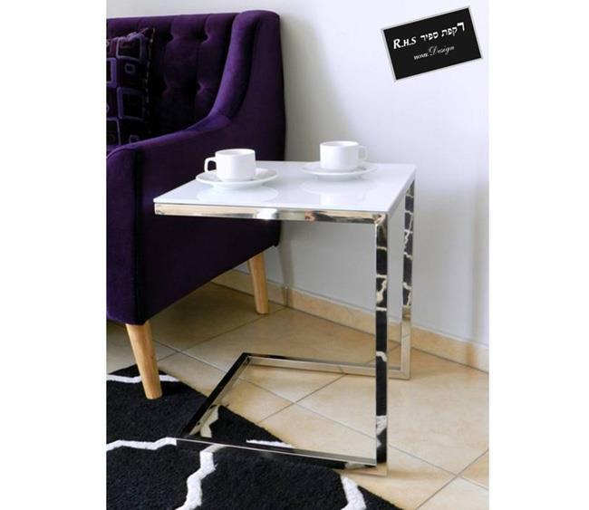 שולחן צד לבן - רקפת ספיר Home Design