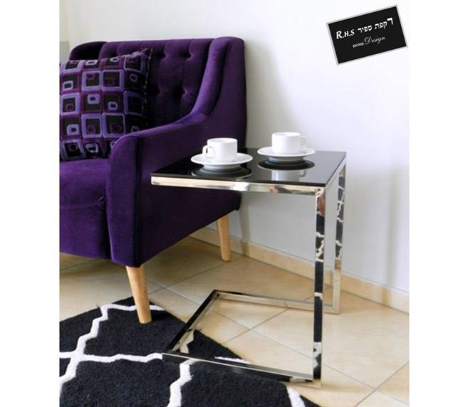 שולחן צד שחור - רקפת ספיר Home Design