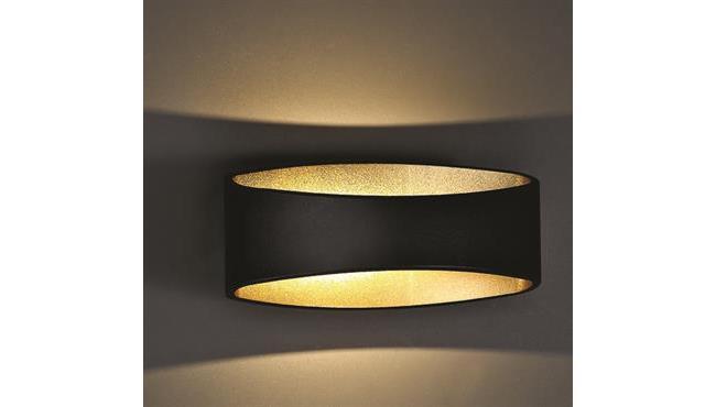 מנורת קיר שחור זהב - I.M.D LIGHTING