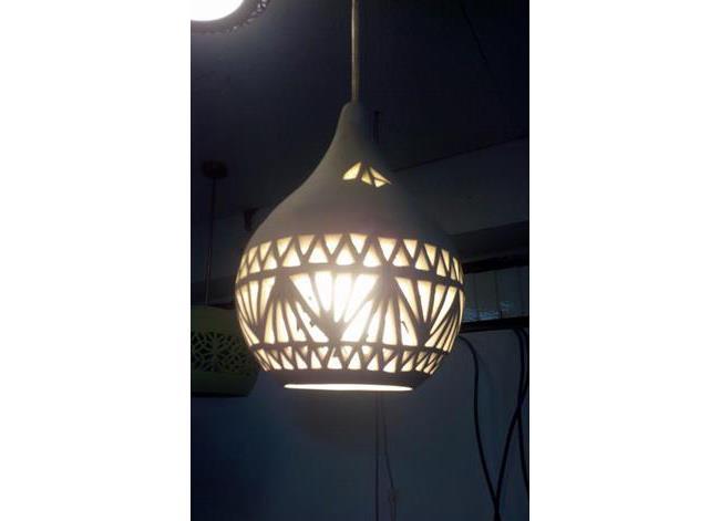 מנורה תלויה פורצלן - I.M.D LIGHTING