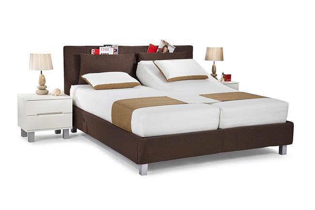 מיטה זוגית חומה - הולנדיה - Hollandia