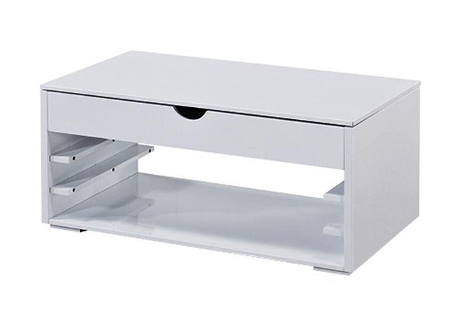 שולחן סלון מתכוונן לבן  - MENZZO - ריהוט מודולרי
