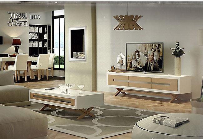 מזנון ושולחן מעץ - רויאל קומפורט